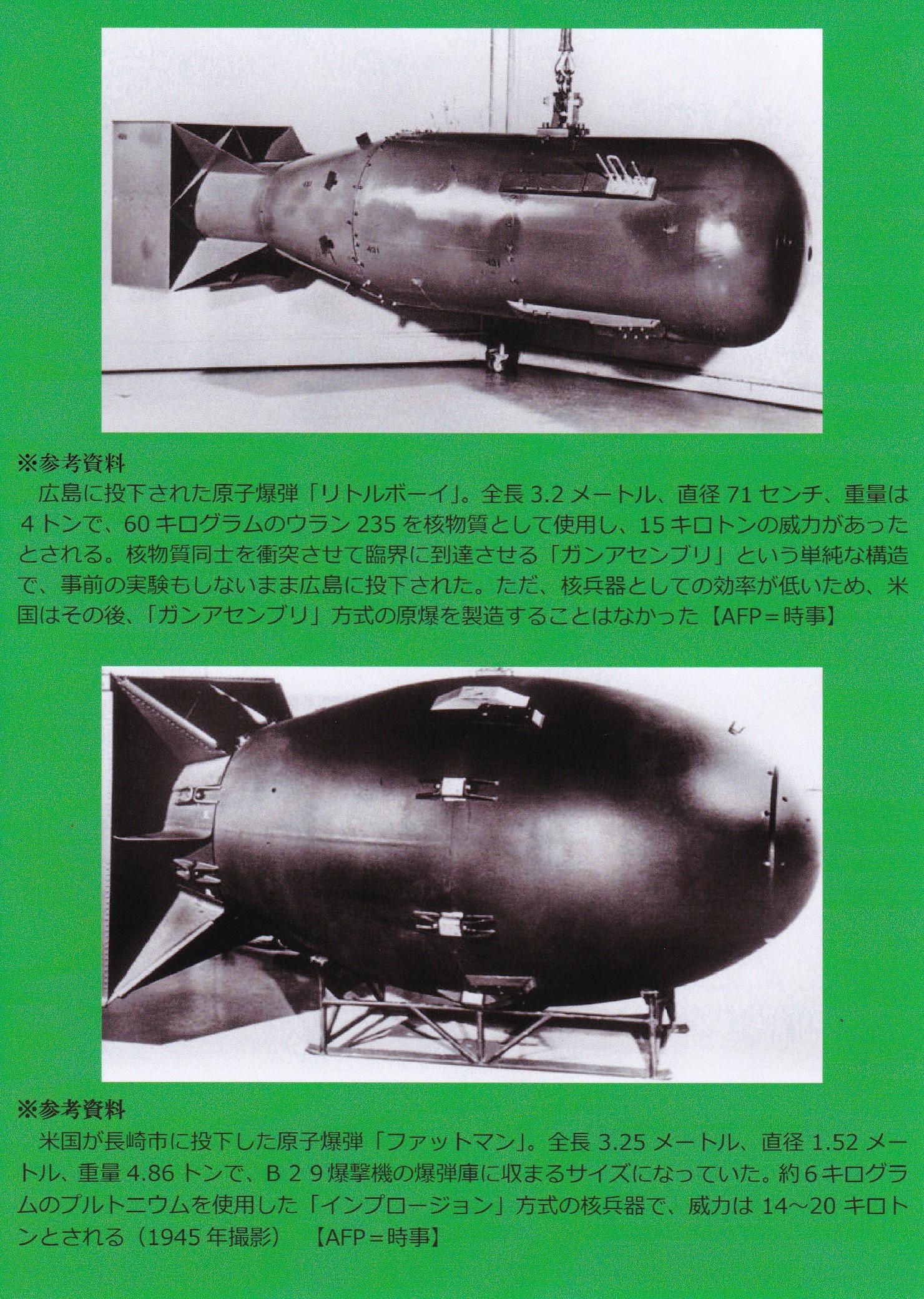 広島・長崎型の原爆